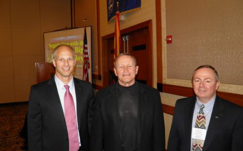 Special Guest Speaker Ed Hochuli with AZ CPCU Chapter President Will Thomas and VP Brett Clausen